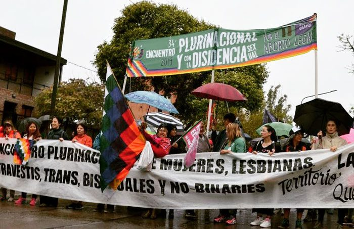Ecofeminismos presentes en el 34° Encuentro Plurinacional de Mujeres y Disidencias Sexuales